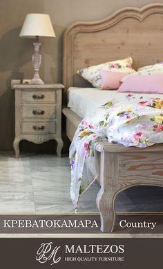 Μοναδικές Χειροποίητες Country Κρεβατοκάμαρες. Δείτε φινέτσα και ποιότητα στην ιστοσελίδα μας High Quality Furniture, Nightstand, Bed, Table, Home Decor, Decoration Home, Stream Bed, Room Decor, Night Stand