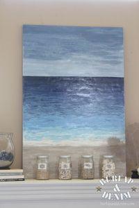 DIY Ocean Art - BURLAP & DENIM