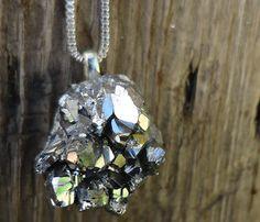 Druzy Geode Rock Necklace.