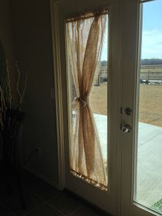 Bedroom Curtain Idea No BurlapHappily Ever After My New Burlap Curtainsmust Do For Front Door