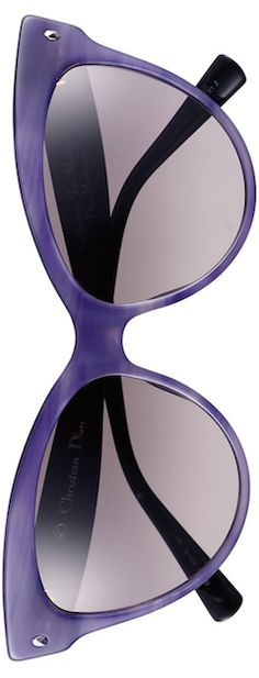 Frivolous Fabulous - Dior Cat Eye Violet Sunglasses for Miss Frivolous Fabulous Purple Love, All Things Purple, Shades Of Purple, Glasses Frames, Eye Glasses, Cat Eye Sunglasses, Mirrored Sunglasses, Color Violeta, John Galliano