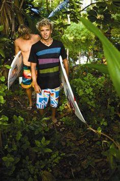 Julian Wilson and Clay Marzo.. Surfer boys :)