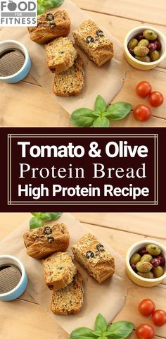 Tomato & Olive Protein Bread Finally, a savoury protein bread that is moist, tasty, soft…and actually tastes like bread and not cardboard. Protein Bread, Protein Foods, Keto Foods, Whey Protein, High Protein Recipes, Healthy Eating Recipes, Breakfast Smoothies For Weight Loss, Breakfast Juice, Speed Up Metabolism