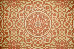1970's Vintage Wallpaper orange and yellow geometric Cathedral PAttern