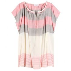 Closed Printed Cotton Top ($65) ❤ liked on Polyvore