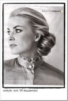 this is the type of bun I went over with my hair stylist :)