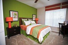 Sabal Park Apartments Royal Floor plan guest bedroom