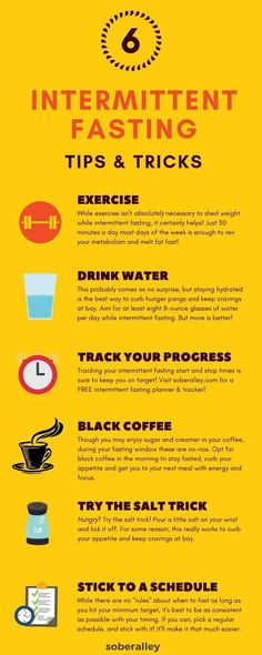 Intermittent fasting 16/8 is the best way to lose weight fast! You can burn fat and get skinny quick without traditional, boring weight loss diets IF you know the best intermittent fasting tips & tricks to succeed. Here are 6 intermittent fasting tips for beginners. Use these and you'll have epic weight loss in no time!