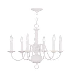 Williamsburg White Six Light Chandelier $179 Belacore