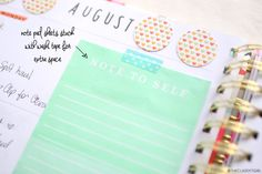 Plan with Me: BAN.DO Agenda | August Weekly Spread | The Classy It Girl - horizontal layout  - how I set up my planner  #planner #planning #bandoagenda
