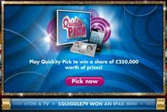 Play Quickity Pick for FREE every day to win TV's, mini iPods and cash prizes :) Play Game Online, Online Games, Games For Fun, Ipods, Cash Prize, Ipad Mini, Balls, Free, Ipod