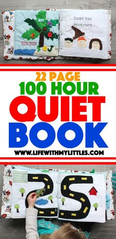 The 100 Hour Quiet Book is part of DIY Book For Baby - The 100 Hour Quiet Book A detailed look at the quiet book I made my son for Christmas, complete with references of where to find each page's pattern! Diy Busy Books, Diy Quiet Books, Baby Quiet Book, Felt Quiet Books, Baby Books, Quiet Book Templates, Quiet Book Patterns, Quiet Book Tutorial, Diy Gifts For Grandma
