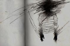 art, dark, and sad image