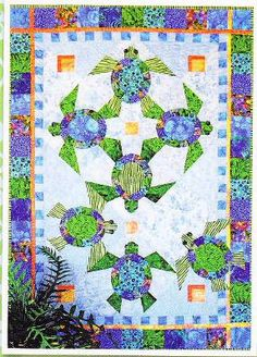 Sea Turtle Quilt: Taming The Wind: New Quilts! | Quilts ... : sea turtle quilt pattern - Adamdwight.com