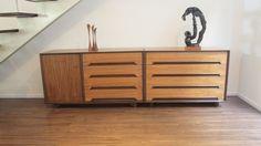 """Vintage Milo Baughman Dresser/Sideboard Rosewood Writing Desk Drexel """"SET"""" #MiloBaughmanPerspectiveLineforDrexel"""