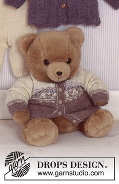 Baby - Free knitting patterns and crochet patterns by DROPS Design Baby Knitting Patterns, Knitting For Kids, Free Knitting, Crochet Patterns, Drops Design, Knitted Stuffed Animals, Knitted Animals, Drops Baby, Magazine Drops