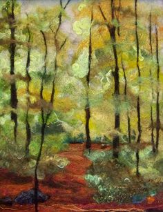 #698 In the Woods Too  by Deebs Fiber Arts, via Flickr - Very nice example of needle felted artwork.