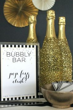 set up a champagne bar at your New Year's Eve Party
