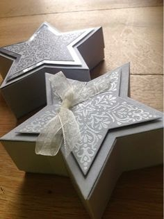 Stampin up Stars Box Christmas Crafts To Sell, 3d Christmas, Stampin Up Christmas, Simple Christmas, Christmas Cards, Stampin Up Weihnachten, Envelope Punch Board, Origami Design, Appreciation Gifts