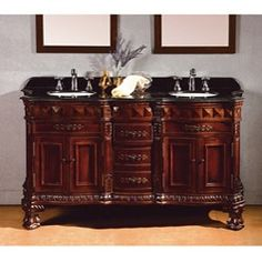 Shop for OVE Decors Birmingham 60-inch Double Sink Bathroom Vanity with Granite Top. Get free delivery at Overstock.com - Your Online Furniture Outlet Store! Get 5% in rewards with Club O!
