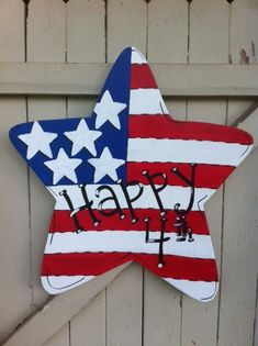 Items similar to Fourth of July Independence Memorial Day American Flag Personalized Star Door Hanger on Etsy 4th Of July Party, Fourth Of July, 4th Of July Wreath, Summer Wreath, Craft Stick Crafts, Crafts For Kids, Diy Crafts, Craft Ideas, Burlap Football