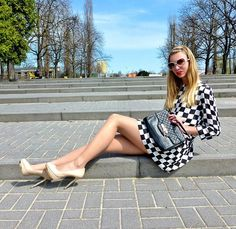 Dress In Chess Print | Choies