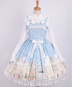 BOOKING: Sweet *Snow Town* Series Printed Lolita Dresses