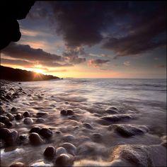 Sunset Clashach Cove - Hopeman, Scotland, UK - Photo by angus clyne