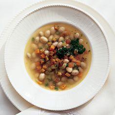 Fresh Shell Bean Soup