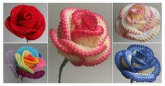 Today we are going to show you – how to Crochet Pretty Roses. Crochet Pretty Roses will be a great gift for every woman on birthday.Learn How To Crochet Roses – Video Tutorial + 15 ModelsCROCHET FLOWERS DESIGN How to crochet these beautiful and c Beau Crochet, Crochet Puff Flower, Love Crochet, Crochet Gifts, Learn To Crochet, Beautiful Crochet, Crochet Flowers, Knit Crochet, Crochet Hearts