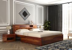 These beds are really comfortable as you can effortlessly stretch your body and sleep on them.   Also due to their large size, they offer ample amount of storage space underneath them