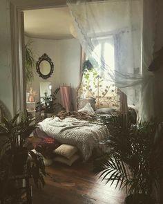 Bohemian Bedroom Decor, Bohemian House, Bohemian Style, Bohemian Decorating, Bohemian Room, Room Ideas Bedroom, Bedroom Designs, Cozy Bedroom, Bed Room