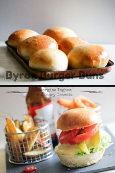 Think of American Independence Day, July 4th, and you're bound to conjure up images of barbecues complete with hot dogs, potato salad and, of course, yieldingly soft burger buns crammed with tender, juicy patties, melting cheese, salad and the quintessential French's mustard. Are you feeling hungry yet?  Recipes for Byron Burger Buns & American Style Cheese Slices plus a brief history of the burger!