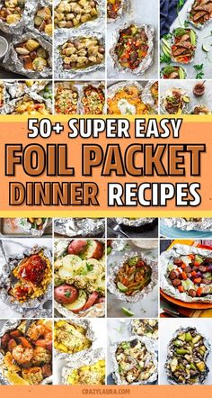 Best Foil Packet Recipes For The Grill & Oven In 2020 - Crazy Laura - If you need a quick and easy meal for the family or next time you're camping… these awesome foil packet recipes, for both the grill and oven, will help you whip up dinner in no time! Tin Foil Dinners, Foil Packet Dinners, Foil Pack Meals, Foil Packet Recipes, Shrimp Foil Packets Oven, Camping Meal Planning, Camping Meals, Camping Hacks, Grilling Recipes