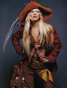Kate Moss by Patrick Demarchelier for Harper's Bazaar US, September 1992.
