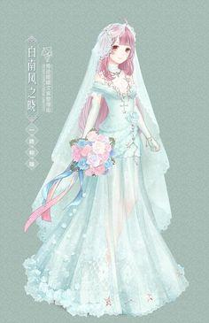 Fille Anime Cool, Anime Girl Cute, Anime Art Girl, Star Fashion, Fashion Art, Vestidos Anime, Anime Angel Girl, Nikki Love, Anime Dress
