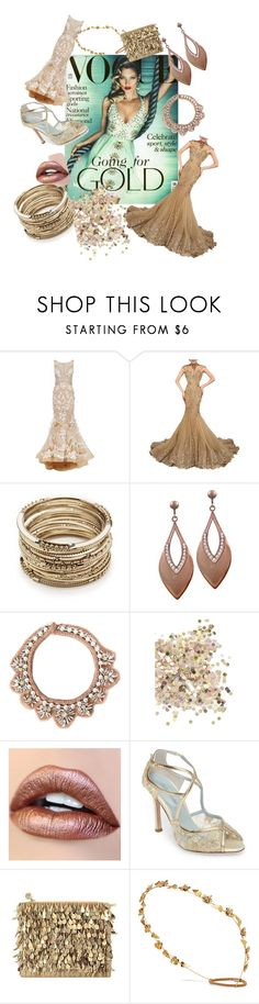 """Going for gold"" by debbie-riley ❤ liked on Polyvore featuring Jovani, Sole Society, Mignonne Gavigan, Topshop, Bella Belle, Forest of Chintz and Jennifer Behr"