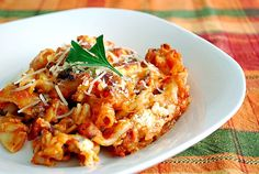 What's Cookin, Chicago?: Baked Penne with Sausage & Creamy Ricotta