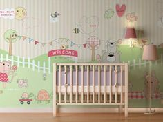 Bunnies at the Park Wallpaper from DIGETEX HOME | Made By DigetexHOME | £79.99 | Bouf