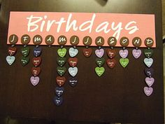 Birthday Boards!