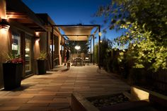 Santa Fe Backyard - Shade Structure - Terrace