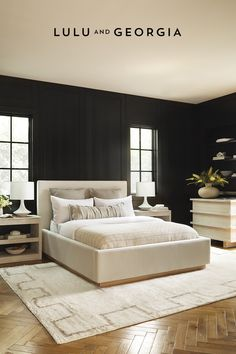 Bedroom Inspo, Home Bedroom, Bedroom Decor, Bedroom Furniture, Bedroom Ideas, Dream Bedroom, Dark Master Bedroom, Serene Bedroom, Master Bedroom Interior