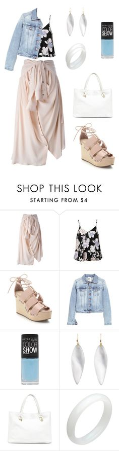 """""""Ethereal Natural"""" by cozykittycat ❤ liked on Polyvore featuring Faith Connexion, Ally Fashion, Loeffler Randall, Maybelline, Alexis Bittar and Sole Society"""