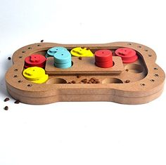 Tailun Pet Interactive Treated Wooden Pet Dog Slow Food Paw Puzzle Toy -Pet IQ Training Toys ** Learn more by visiting the image link. (This is an affiliate link and I receive a commission for the sales)