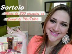 """Cela Medeiros: Sorteio Nacional/""""Mais de 200 inscritos no Canal do YouTube"""""""