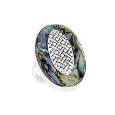 Ninos DeChammo™ Jewelry - 2013 Conchiglia Ametista Collection - Wholesale inquires contact: service@ninosdesigns.com  www.NinosDeChammo.com #jewelry #designer #silver #sterlingsilver #fashion #ring #shell #abalone #statement #artisan #crafted #art