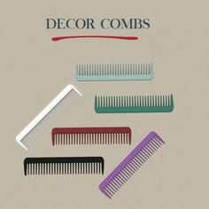 Leo Sims - Decor combs for The Sims 4