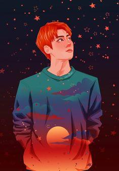 Pin by ale on exo in 2019 Kpop Exo, Sehun, Exo Anime, Anime Guys, Anime Art, Fanarts Anime, Anime Characters, Exo Fan Art, Kpop Fanart