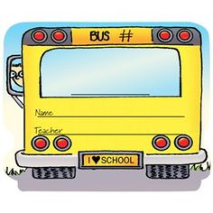 School Bus Name Tag Stickers Help Students Feel Safe And Secure!
