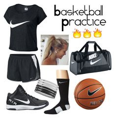"""Nike bball practice outfit"" by jadeakeyy on Polyvore featuring NIKE"